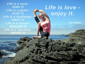 Life is love - enjoy it. -Sai Baba