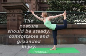 The posture should be steady