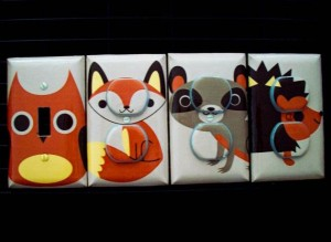 Forest animal outlet covers