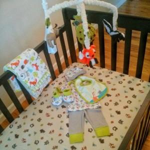 Crib ready to go!
