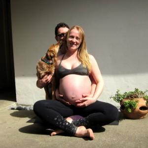 Candid prenatal photoshoot pic