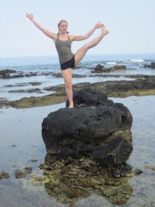 This is from my honeymoon in Hawaii. As if there's room to do an actual yoga practice on this rock.